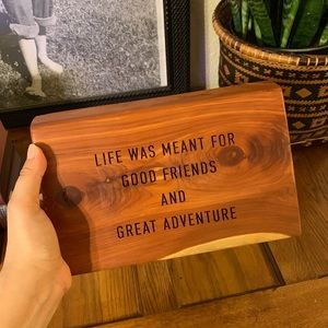 Grainwell wood wall plaque for good friends